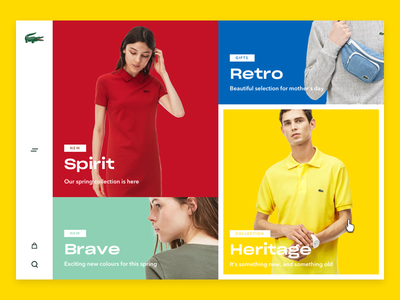 Lacoste Home colours design ui free young modern lacoste