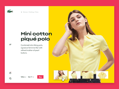 Lacoste Product page commerce webshop colours design ui free young modern lacoste