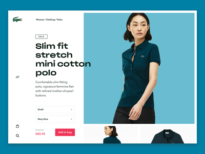 Lacoste product page v3 commerce webshop colours design ui free young modern lacoste