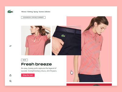 Lacoste product page v4 commerce webshop colours design ui free young modern lacoste