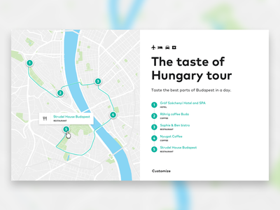 Design of an itinerary map ui design ui ux map