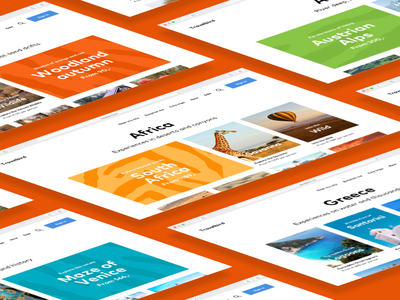 Test materials for TravelBird colours patterns ux ui