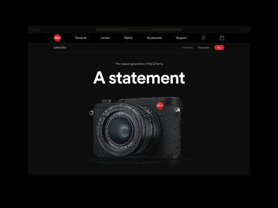 Leica webshop black dark leica e-commerce webshop redesign ux ui