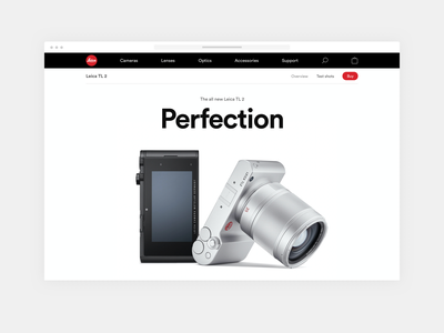 Leica webshop leica product shop e-commerce webshop redesign ux ui