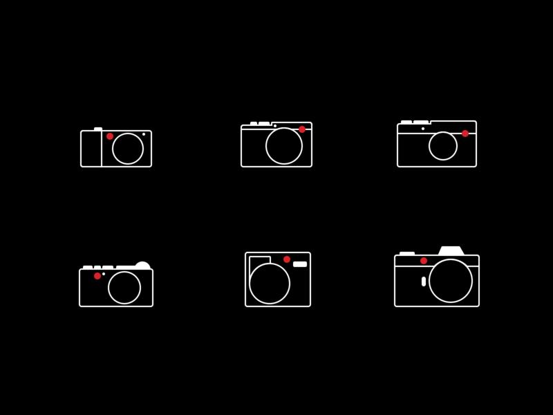 Leica camera icon set