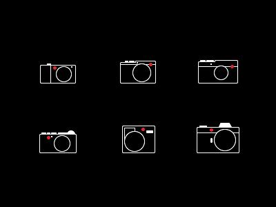 Leica camera icon set illustration icons design icon set icon design iconography single line minimal webshop ui icons leica