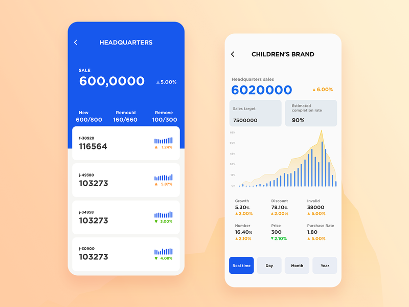 data management blue mobile data design app