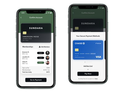 SUNDARA Gym - Account Confirmation & Payment credit card daily ui ui modern luxury gym payment glassmorphism glass account confirmation