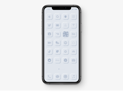 iOS Home Screen | Neumorphism