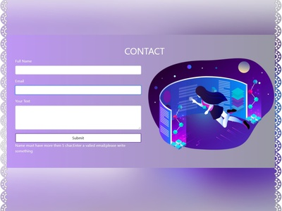 Contact Section responsive uiux web ui bootstrap javascript web designer webdesign website web