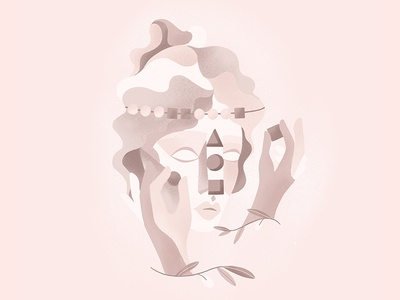 Fields of Phylosophy: Logic grain texture head portrait head nature procreate brushes pink pastel sculpture ipadpro applepencil procreate girl sketch drawing illustration