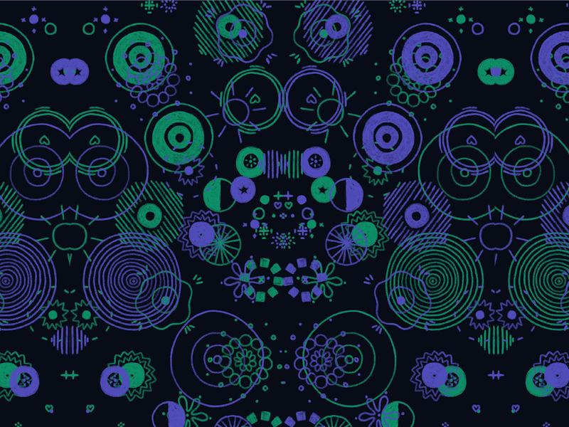 Patterns #01 utrecht netherlands repeat circles illustration freelance illustrator freelance chapes loop pastel color pastel applepencil ipadpro procreateart procreate digitalart abstract circle pattern
