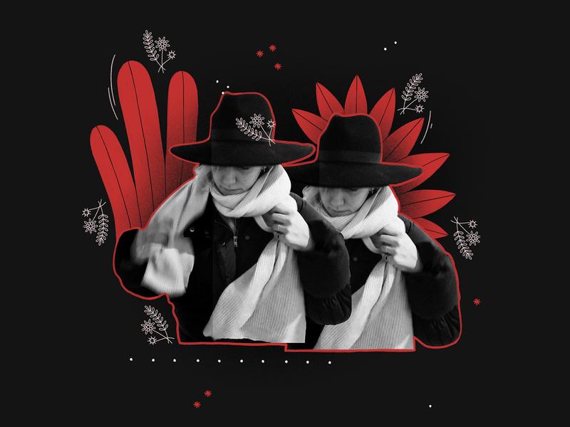 Collage grain cutout black and white collage collageart illustrator freelance flower procreateart procreate applepencil digitalart ipadproart ipadpro nature plants wildwest western selfie girl
