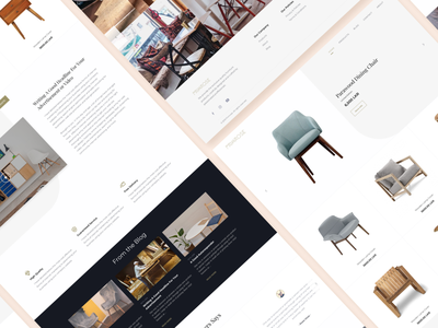 PRIMROSE Website furniture website wooden internet web ux ui
