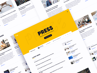 UI Challenge #051 - Press page press page news daily ui challange ux ui