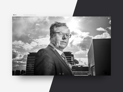 Kristian Gehradte - Home ui menu black white photography internet web home