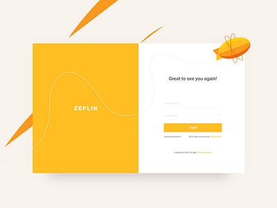 Zeplin Login development design form login minimal simple zeplin ux ui
