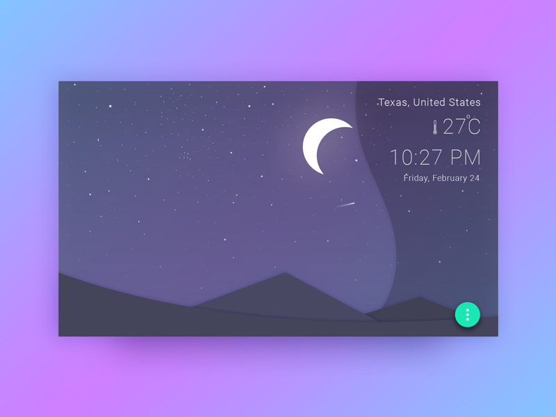 Weather widget by udara