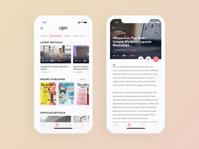 Daily UI Challenge #035 - Blog Post post ios read blog mobile app daily ui challange ux ui