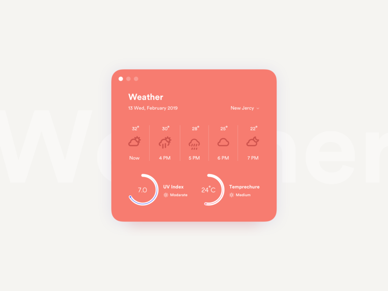Daily UI Challenge #037 - Weather