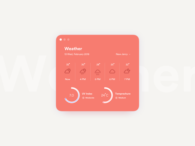 Daily UI Challenge #037 - Weather ui card weather widget daily ui