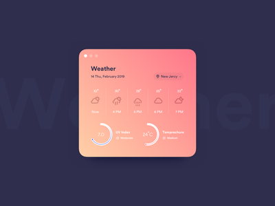 Weather widget weather widget card daily ui challange ux ui