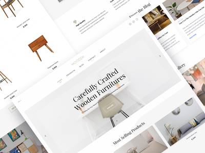 Wooden home furniture homepage internet web ux ui