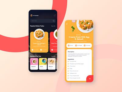 Daily UI Challenge #043 - Food Menu menu food app daily ui challange ux ui