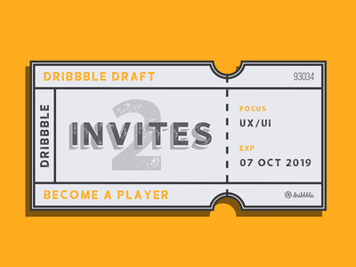2 Dribbble Invites invites giveaway member player dribbble ux ui