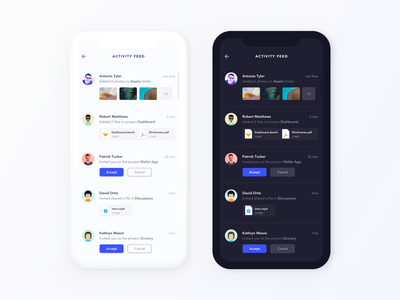 Daily UI Challenge #047 - Activity feed activity feed mobile app daily ui challange ux ui