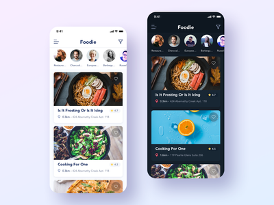 Foodie - Food review app food review food mobile app ux ui