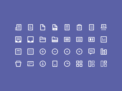32 Icons outline illustration graphic sketch freebie icon 16px 32px