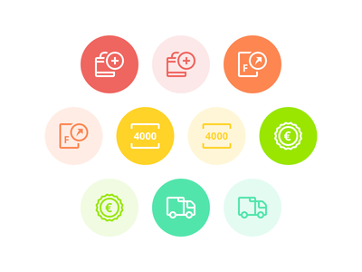 Food-related Icons food tech fresh product price invoice cart delivery foodtech food sketch graphic illustration icon