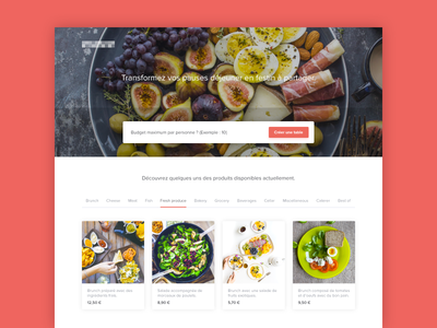 Food-related Landing Page food tech order website web landing page header form foodtech food desktop delivery cards