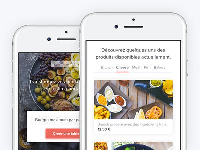 Responsive Landing Page website web order landing page header form food tech foodtech food mobile deliver cards