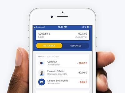 Transaction History balance money mastercard bank transaction history finance financial tech fintech iphone ios application app