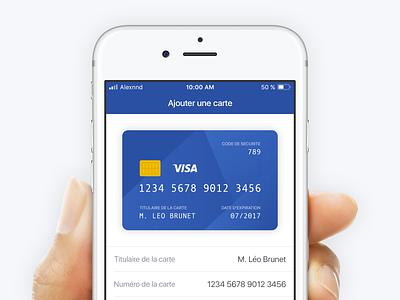 Add a Card visa banking card money bank fintech financial tech finance iphone ios application app