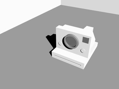 Polaroid SX 70 Inception primitives polaroid loop cinema4d 3d artist 3d animation 3d