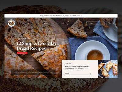King Arthur Flour - Website websites website web design webdesign web animations web animation ux ui typograhpy motion interactive interaction design interaction food design build-in b2b animation