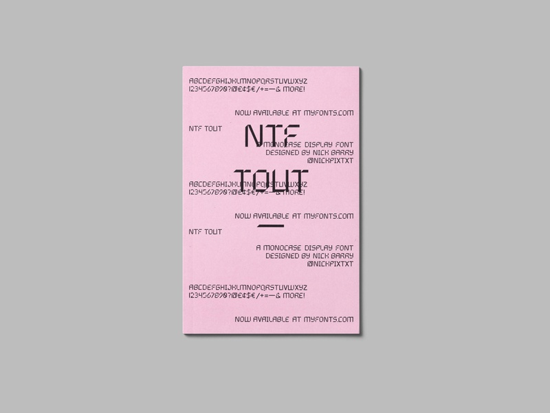 NTF Tout Type Specemin Zine [2 of 3] process photocopier layout book design cover design handmade zine font design lettering typography type design analogue analog