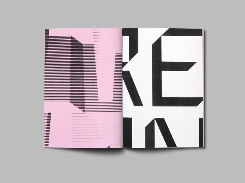 NTF Tout Type Specemin Zine [3 of 3] design layout magazine black white pink monochome negative space analogue analog zine handmade lettering typography typedesign type design font