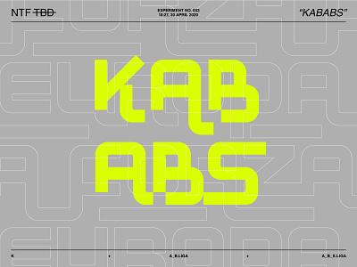 New Typeface Experiment  N°003 lettering art letters modernist modernism typeface type designer font design fonts font ligatures type poster lettering type design design typography