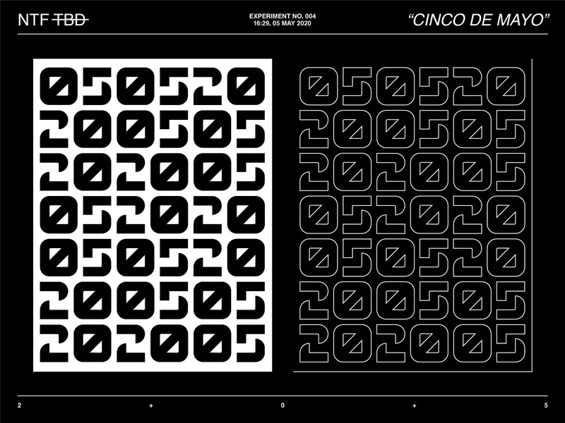 New Typeface Experiment  N°004 type face poster design poster numerals numbers lettering typeface layout font typedesign type design typography