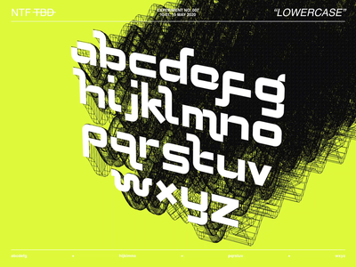 New Typeface Experiment N°007 type alphabet experiment neon type designer typeface designer glyphsapp lowercase font typography typeface typedesign type design