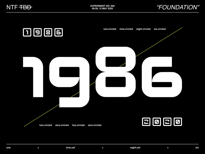 New Typeface Experiment N°006 typographic art typographic baseline old style graphic design font design new font font lettering customtype custom type numerals numbers type designer typedesign type design typography