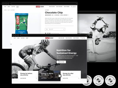 CLIF Bar - Website ecommerce design ecommerce shopify design web website design website interactive ui