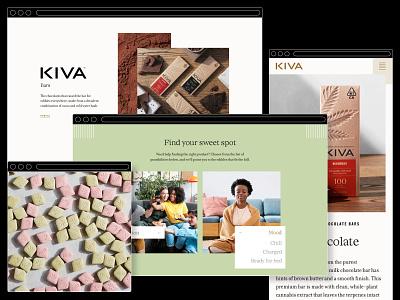 Kiva Confections - Website interaction design website design webdesign design ux cannabis interactive branding website ui