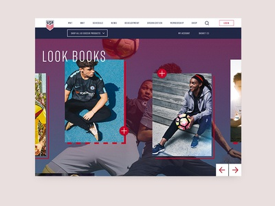 US Soccer Website - Store Concept
