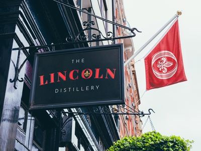 The Lincoln Distillery - Exterior Signage Design