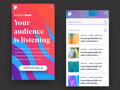 Pandora for Brands - Mobile Interactions